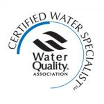 Gary is now a Certified Water Specialist!!
